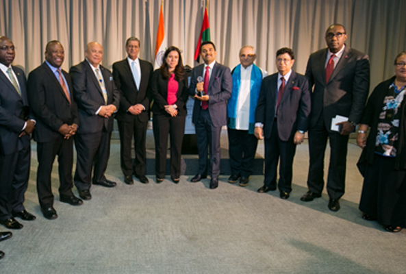 Dr. Shamsheer Vayalil Conferred with GPF Global Humanitarian Award at the United Nations